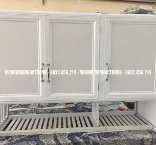 Tủ bếp treo alu trắng sữa tb003