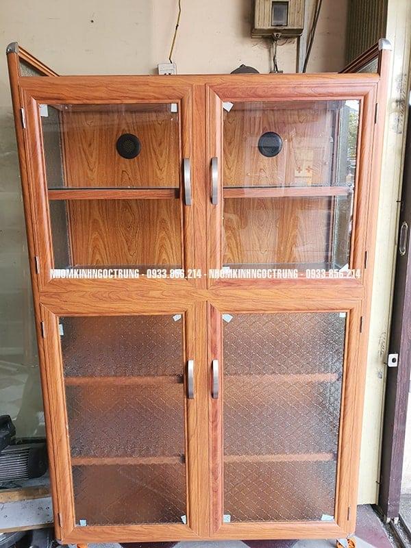 tủ chén nhôm giả gỗ TCG1162500